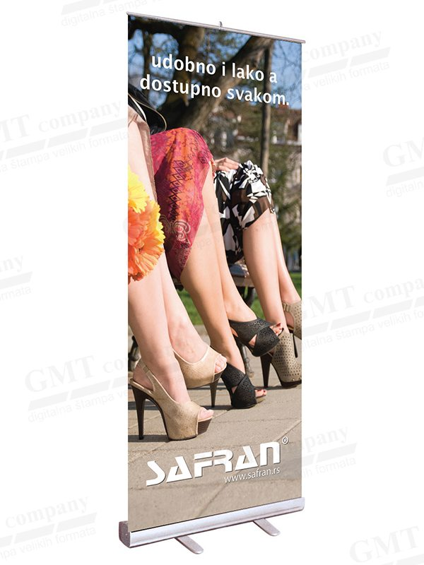 display sistemi roll up gmt sajam safran