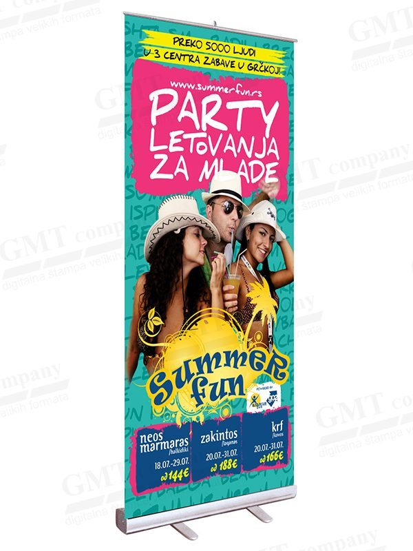 display sistemi roll up gmt sajam summer fun