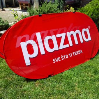 reklamni display sistem pop a baner plazma