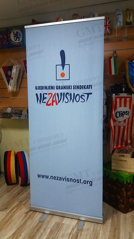 Reklamni display sistemi tekstilni Roll-up