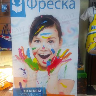 Reklamni display sistemi Roll-up Freska