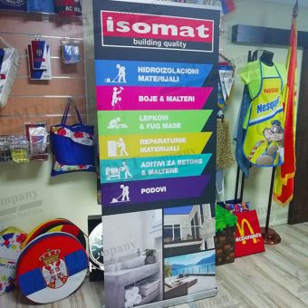 Reklamni display sistemi Roll-up Isomat