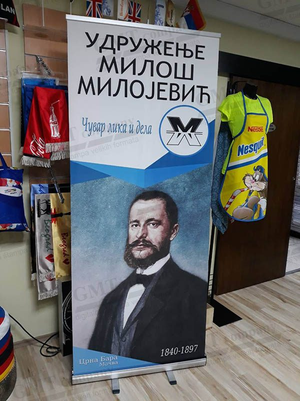 Reklamni display sistemi Roll-up Udruzenje Miloš Milojević