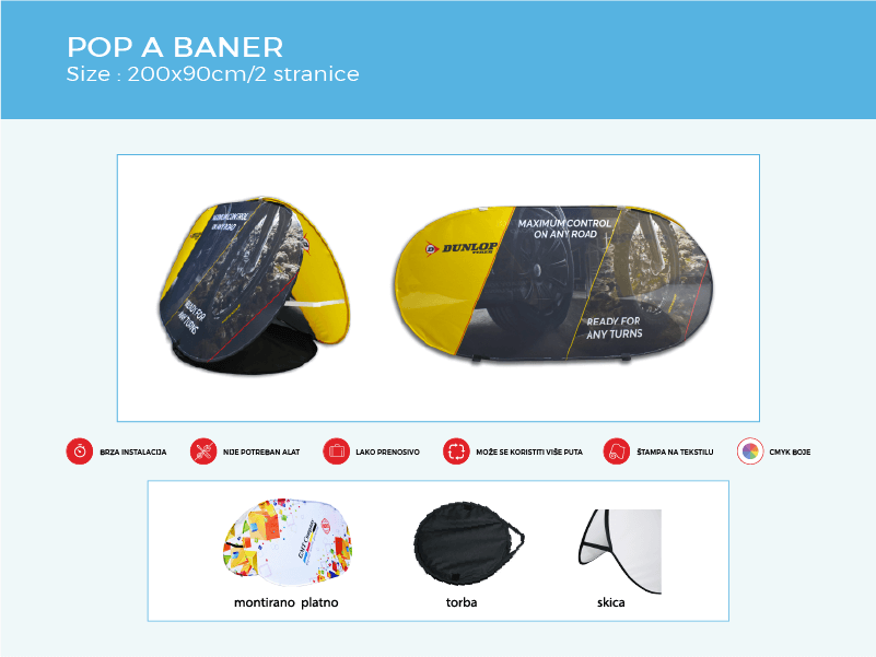 reklamni display sistem pop a baner