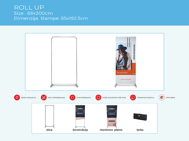 roll up display sistemi gmt | roll up display systems gmt