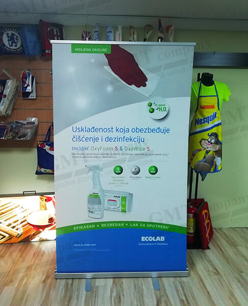 roll up reklamni display sistemi gmt 20 | roll up mobile display systems gmt 20