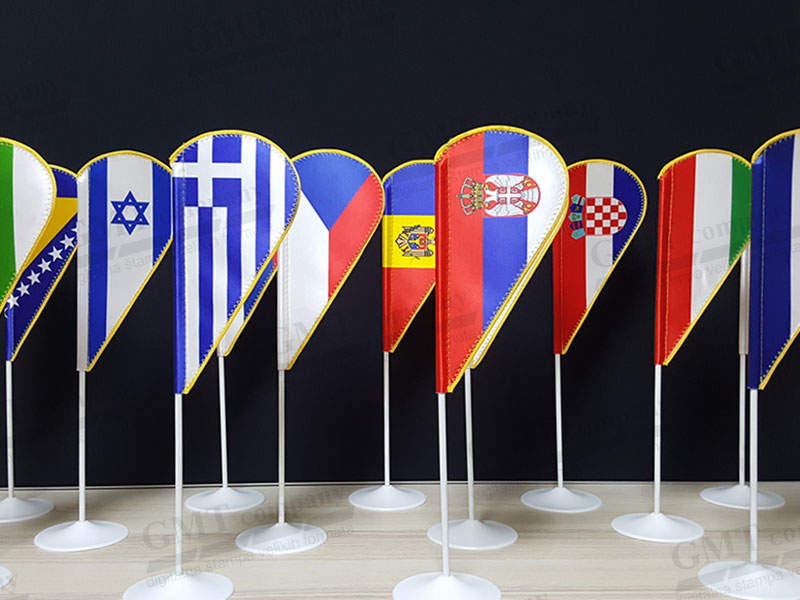 stone zastavice 1 gmt | table flags 1 gmt